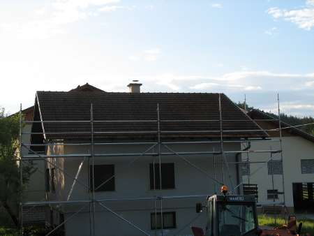 Fasadni oder pred pričetkom del na strehi