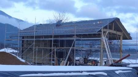 prekrivanje strehe, skodle, prefa, kozolec, montaža snegolovov, snegolovi, prestavitev kozolca
