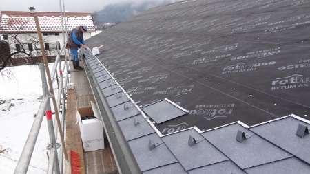 prekrivanje strehe, skodle, Prefa, kozolec, prestavitev kozolca