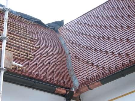 Prekrivanje strehe, bobrovec, žlota