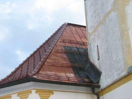 Prekrivanje strehe, bakrena pločevina